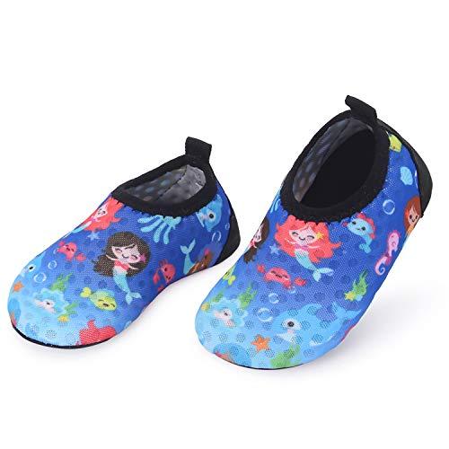 L-RUNJP Kinder Schwimmen Soack Kleinkind wasserdichte Wasser Schuhe Atmungsaktiv Meerjungfrau 18-24 Monat = EU21-22 -