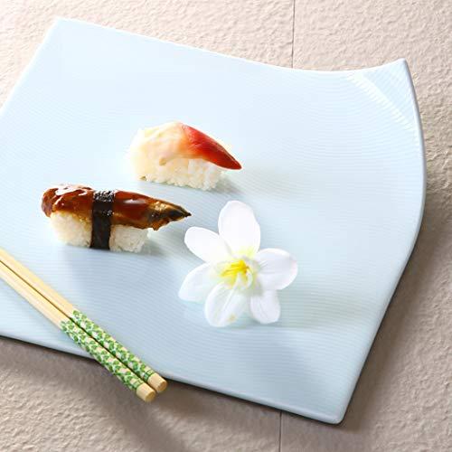LI plaque- Coutellerie à rouler en céramique Creative Personality - Plat à barbecue à desserts et à gâteaux Sashimi Cake (1 emballage) tableware (taille : 27.8x0.8cm)