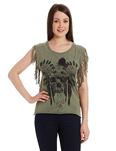 Pepe-Jeans-Womens-Solid-T-Shirt-PIL0001530-4Mil-GreenMedium