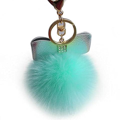 Ularma Elegant Plüsch Ball Pelz Fliegen Schlüsselanhänger Weich Keychain Handtaschenanhänger Taschen Dekor