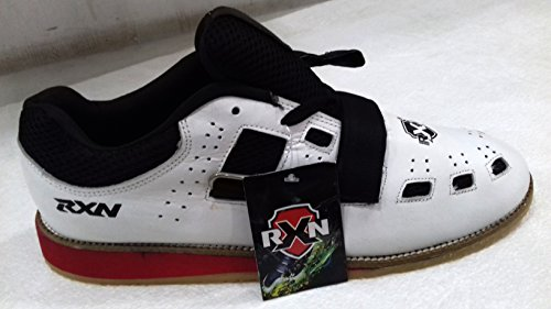 RXN New Weightlifting & Gym Shoes Size 8 UK (White/Black)