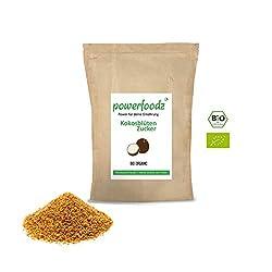 Powerfoodz - Bio Kokosblütenzucker 1kg Reiner Kokos zucker aus Fairem Handel (Fair Trade) - 1000g Beutel