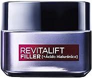 L'Oréal Paris Revitalift Filler Crema de Día Revitalizante, Antiarrugas y Volumen, Anti-edad, Con Ácido Hi