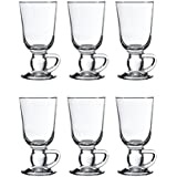 Pasabahce 44109 Lot – Verres à Irish Coffee, Punch, vin chaud, Chocolat Chaud, 280 ml, set de 6