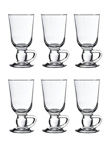 Pasabahce 44109 - Irish Coffee, Punsch, Glühwein, Heiße Schokolade Gläser, 280 ml, 6er-Set