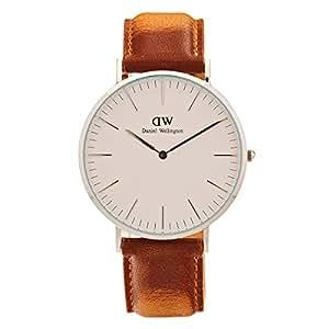 Daniel Wellington Classic Herren-Armbanduhr Analog Quarz Leder - DW00100110