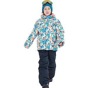 LSERVER Skianzüg Unisex Kinder Schneeanzug Wasserdicht Winddicht zweiteilig Skijacke + Skihose