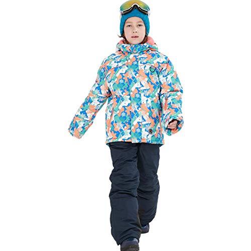 YFCH Kinder Skianzug Winter Skijacke Skihose Set Mädchen Jungen Schneeanzug Wasserdicht Winddicht Winter Skiset 116/122 | 08391982708001