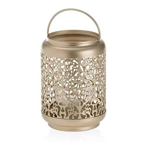 Gold Votiv-kerze (Yankee Candle Champagne Pearl Votive Kerzen Lanterne Metall Gold 14.6)