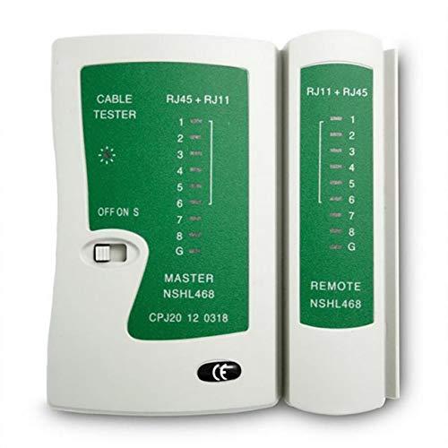 Ballylelly Professionelle Netzwerkkabel Tester RJ45 RJ11 RJ12 CAT5 UTP LAN Kabel Tester Detektor Remote Test Tools Netzwerk -