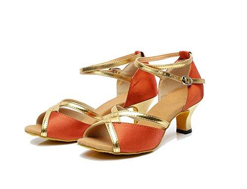 Sqiao-x-square Chaussures De Danse Femme Latine Chaussures De Danse Pour Adultes, La Danse Latine, Chaussures De Danse Latine, Intérieur Et Extérieur Golden Hair Retour