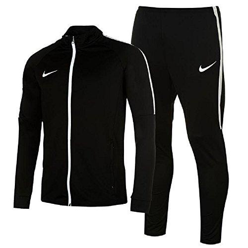 Nike uomo giacca tuta sportiva academy warm up 2pezzi pantaloni black/white large