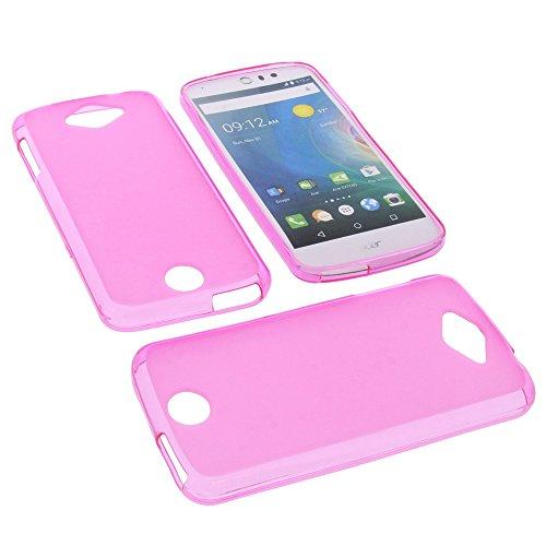 foto-kontor Tasche für Acer Liquid Z530 Liquid M530 Gummi TPU Schutz Hülle Handytasche pink