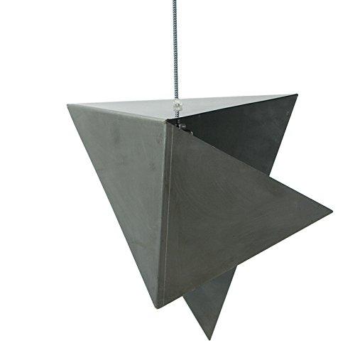 Gie el. lgh0322a + to D, acciaio geometrica proiettore, 60W, E27, colore: naturale acciaio, 45x 35x 145cm