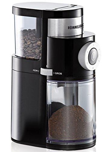 ROMMELSBACHER EKM 200 elektrische Kaffeemühle mit Scheibenmahlwerk/Kaffeepulver täglich frisch/9...