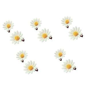 TOOKY 12pcs wedding white daisy flower hair pin hair flower pins unVrrB