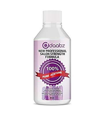 Daabz® 100% Pure Acetone Superior Quality Nail Polish Remover UV/LED GEL Soak Off 20 ml Purse Size