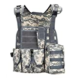 XBTECH Tactical Airsoft Paintball Vest Gioco di Guerra Regolabile Leggero Gilet Molle Military Cross...