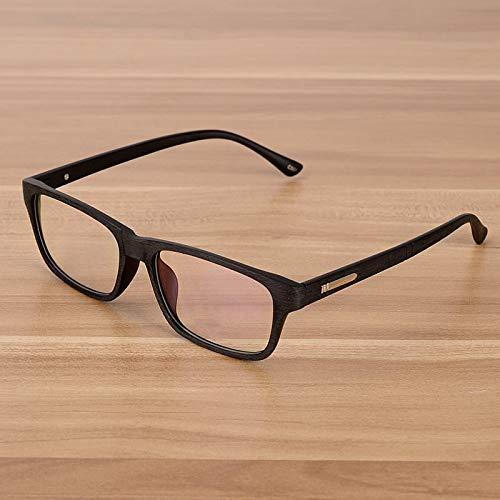 fbf9b26850 YMTP Hombres Y Mujeres Unisex Patrón De Madera Retro Óptico Anteojos Gafas  Marco Vintage Gafas