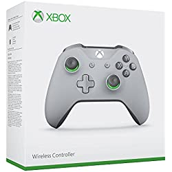Manette sans fil pour Xbox One - gris/vert