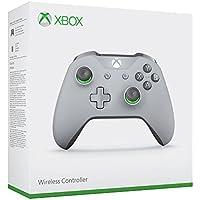 Manette sans fil pour Xbox One - gris/vert  + code Gears of War 4