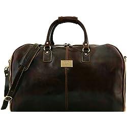 Tuscany Leather Antigua - Maleta de viaje/Porta trajes en piel - (Marrón oscuro)