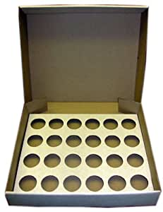 5 x Strong White 24 Cup Cake Cupcake Muffin Box & Tray