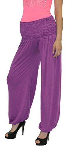Pantalon pour femme enceinte schwangerschaftshose umstandshose pantalon de grossesse en 25 couleurs Violet - Hell-Lila