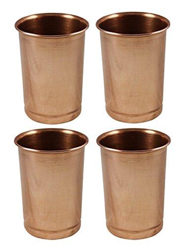 maithil Art reines Kupfer Tumbler Ayurvedische Wasser trinken Gläser, Fassungsvermögen 350ml