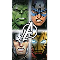 Official Disney Avengers Towel Four Avengers Cotton Beach Bath Towel