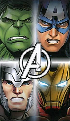 Offizielles Disney Avengers Handtuch Vier Avengers Baumwolle Strand Badetuch (Handtuch-set Avenger)