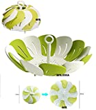 #10: HPK FLOWER SHAPE FOLDING FRUIT AND VEGETABLE BASKET TRAY ALSO USE FOR WASH FRUITS AND VEGETABLES COMES WITH DRAINAGE FUNCTION