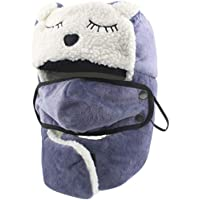 Sombrero de Piloto de Invierno - Unisex Niña Niño Gorros de Aviador Bombardero Trapper Trooper de esquí Ushanka de Felpa Cálido Ear Flap