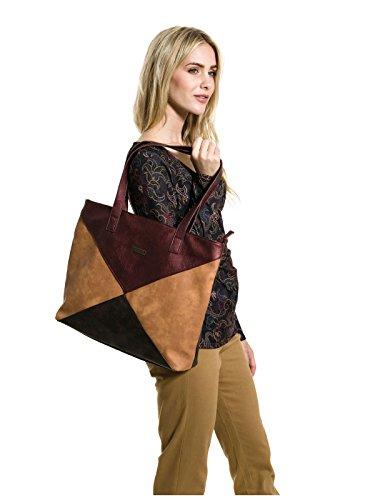 Smash! Zenon, Sacs portés épaule femme, Marrón (Coffee), 9x35x46 cm (W x H L)