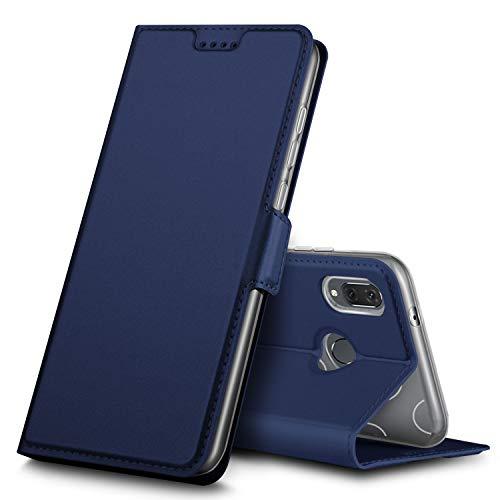 Huawei P20 Lite Hülle, Huawei Nova 3e Hülle, iBetter Premium Tasche Cover Flip Case [Magnetic Closure] [Standfunktion] Schutzhülle Handyhüllen für Huawei P20 Lite/ Huawei Nova 3e Smartphone(Blau)