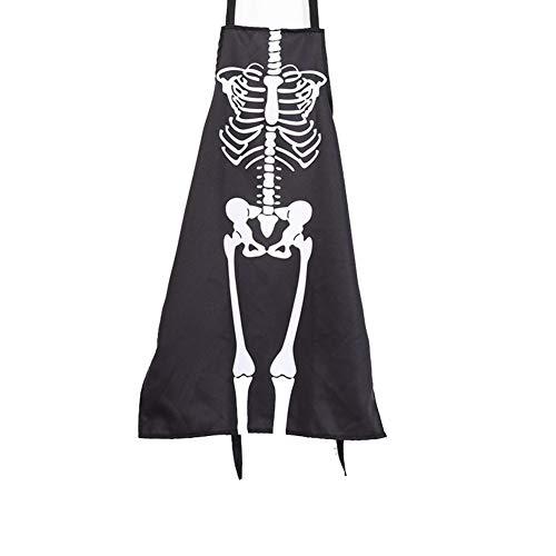 Kanggest Horrorschürze Skelett Funschürze Halloween Grillschürze Schürze