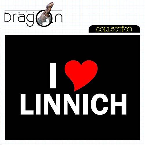 T-Shirt mit Städtenamen - i Love Linnich - Herren - unisex Schwarz