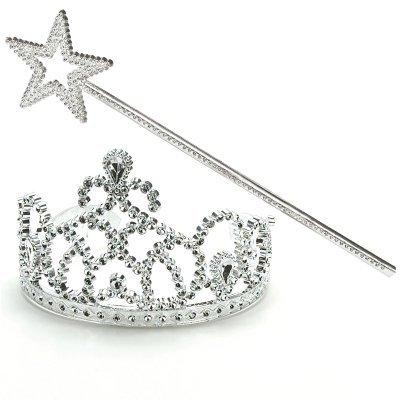 Kost-me 162886 Prinzessin Tiara & Wand Set