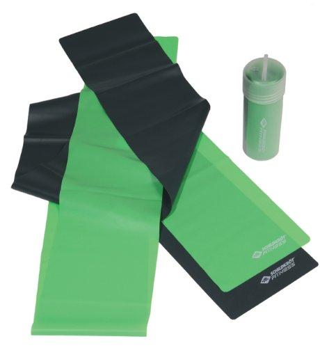 Schildkröt Fitness Fitnessbänder Latex 2er Set, limegreen - anthrazit, 960020