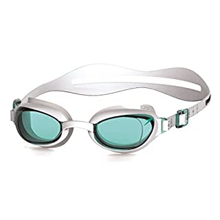 Speedo Women's Aquapure Goggles, White/Blue, One Size