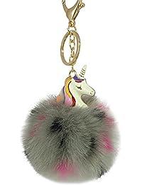 Oyfel Métal Porte-Clés Trousseau Port Clef Unicorn Fluffy Voiture Souvenir  Cadeau Pendentif Accessoires de Sac… 681a9c699eb