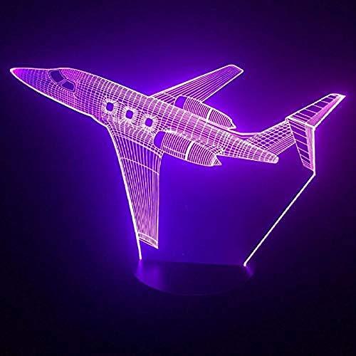 Jet Air Flugzeug 3D Led Lampe 7 Farbwechsel 3D Nachtlicht Baby Schlafzimmer Tischlampe Touch USB Schreibtischlampe Kinder Urlaub Geschenk Hause -
