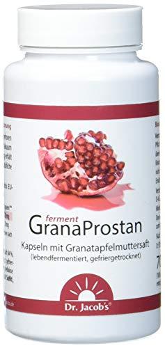 Dr. Jacob's Granaprostan Ferment 100 Kapseln I hohe Bioverfügbarkeit I Granatapfelmuttersaft-Extrakt, lebend fermentiert, gefriergetrocknet