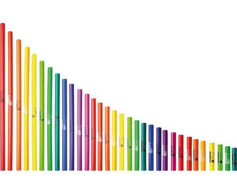 Großer chromatischer Boomwhackers-Satz - Musik musizieren Kinder Musikinstrumente Schule lernen Boom-Whackers Performance Perkussions-Kunststoffröhren Percussion Schlaginstrumente Effektinstrumente