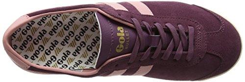 Gola Bullet Suede, Sneaker Donna Rosso (Windsor Wine/coral)