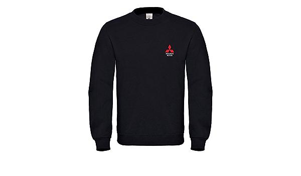 Natshop2000 Mitsubishi Motors Auto Bestickte Logo Sweatshirt Premium Qualität 6095 Bekleidung
