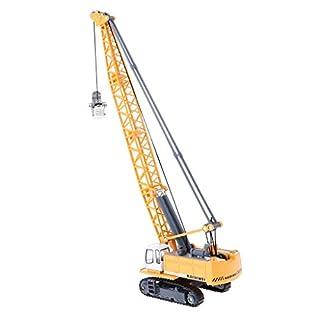 Baoblaze 1:87 Scale 1/87 Machinery Crawler Tower Cable Excavator Diecast Crane Model