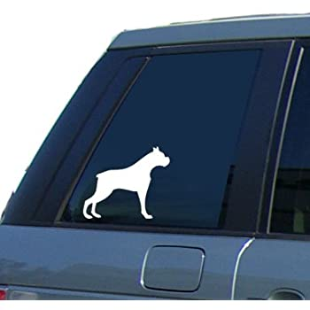 Boxer dog car window vinyl sticker decal by sca art