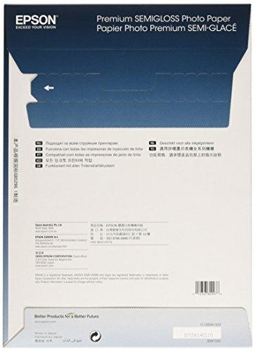 Epson C13S041332 Premium Semi Gloss Photo papier Inkjet 251g/m2 A4 20 Blatt Pack - 2