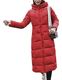 Fräulein Fox Otoño Invierno Mujer Largas Abajo Chaqueta con Capucha Casual Manga Larga Ropa de Abrigo